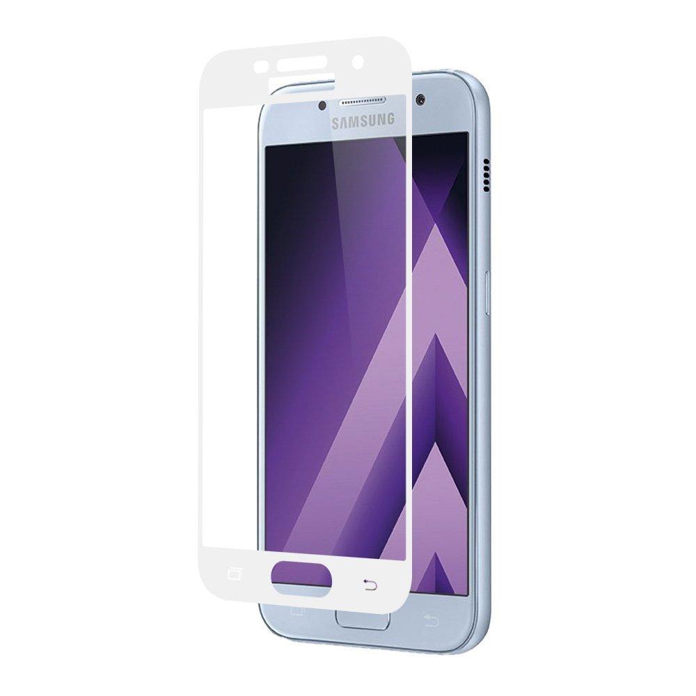 Tvrzené sklo FullCover na displej - Galaxy A5 (2017), bílé