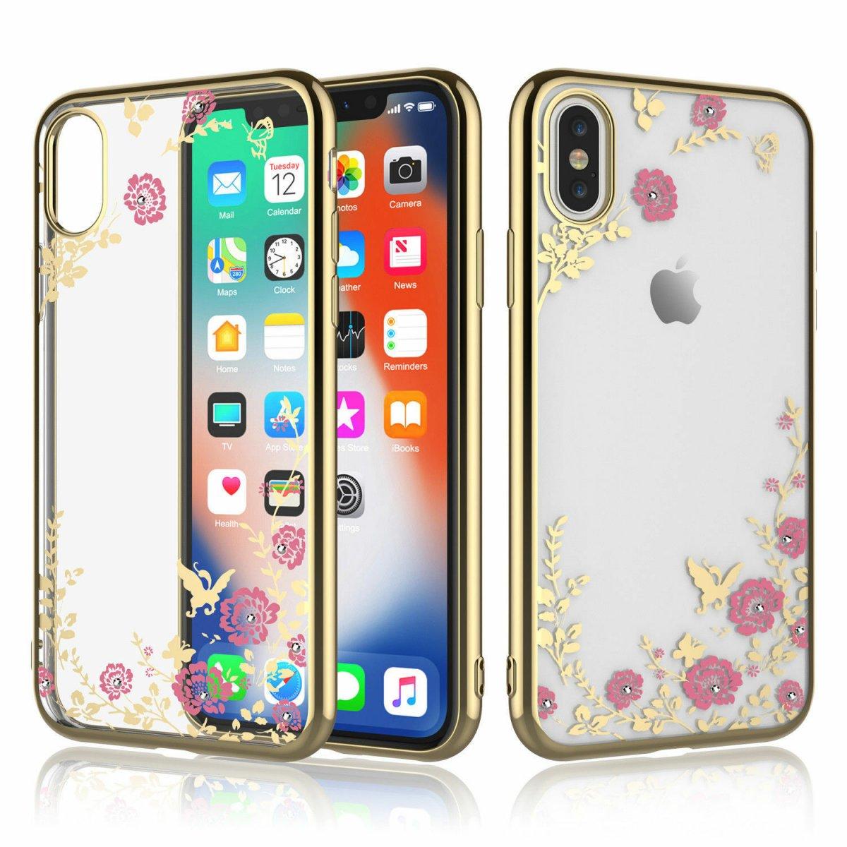 Pouzdro Forcell Diamond Case iPhone Xs Max - Zlatá