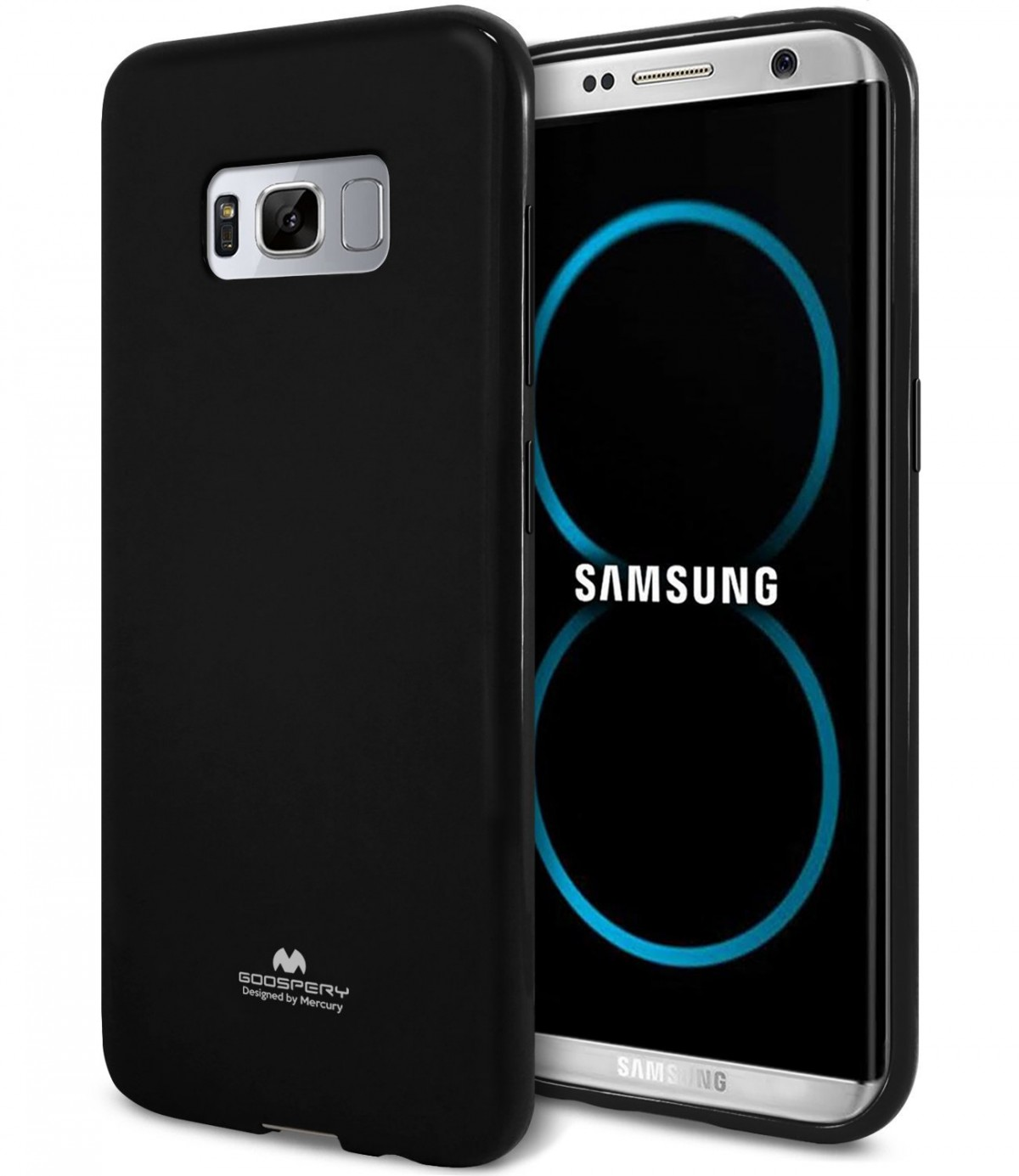 Silikonový barevný obal / kryt Goospery Mercury pro Samsung Galaxy S8 - Jelly Case - Černý