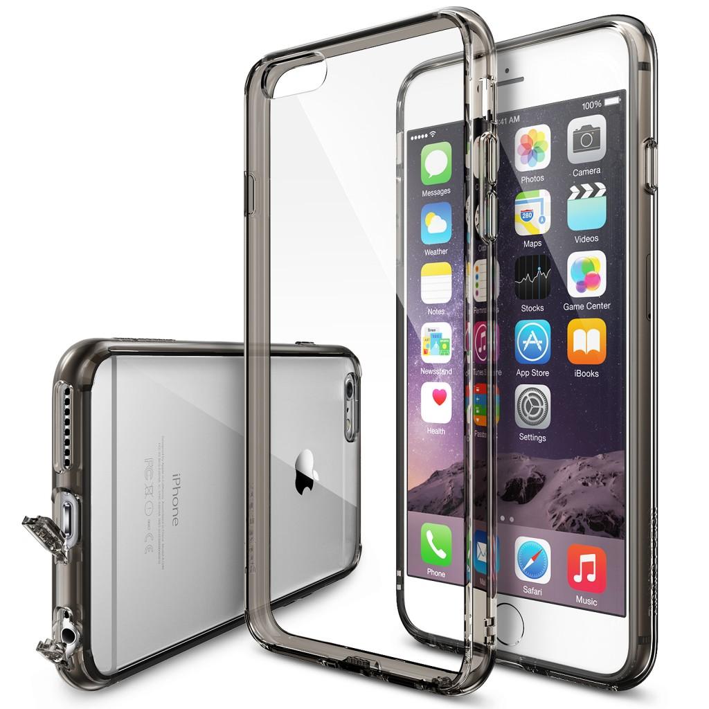 Černý čirý obal / kryt na iPhone 6s Plus / 6 Plus