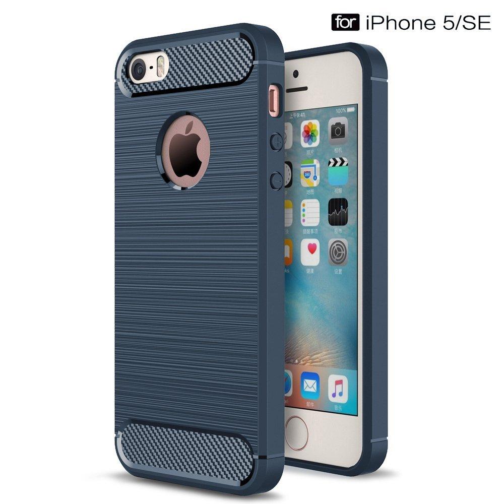 Pouzdro Forcell Carbon Apple iPhone 5 5S SE - modré 33f601fb54d