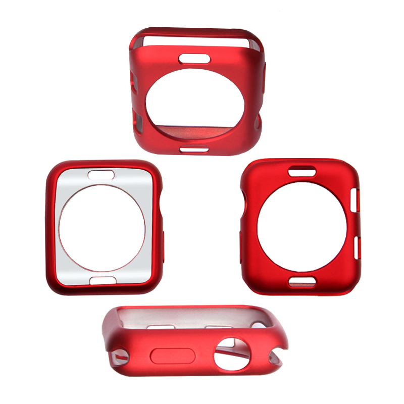 Silikonový obal Jelly Metal na Apple Watch 38mm Series 1, 2, 3 - Červený