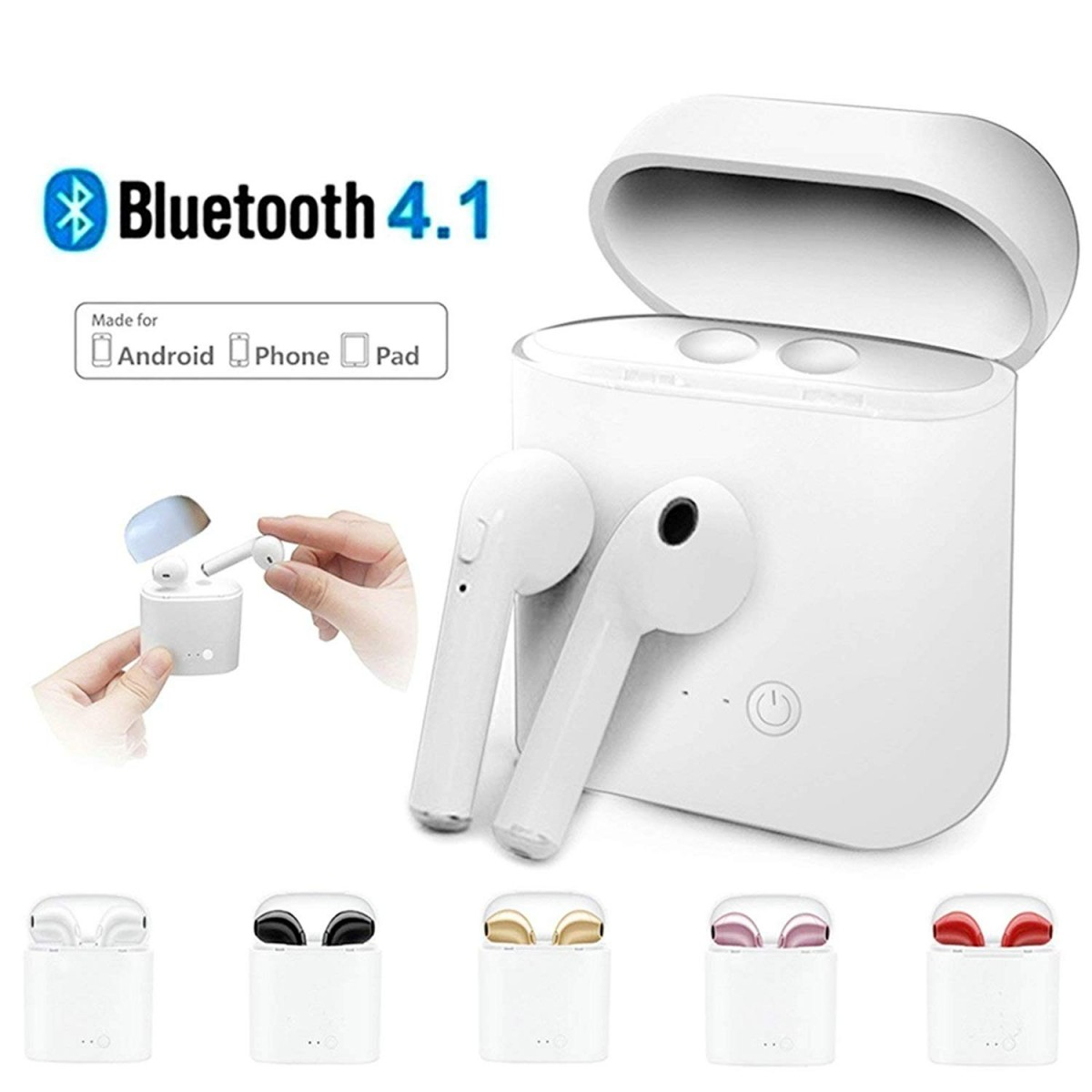 Bezdrátová bluetooth sluchátka AirPods i7S TWS + nabíjecí krabička