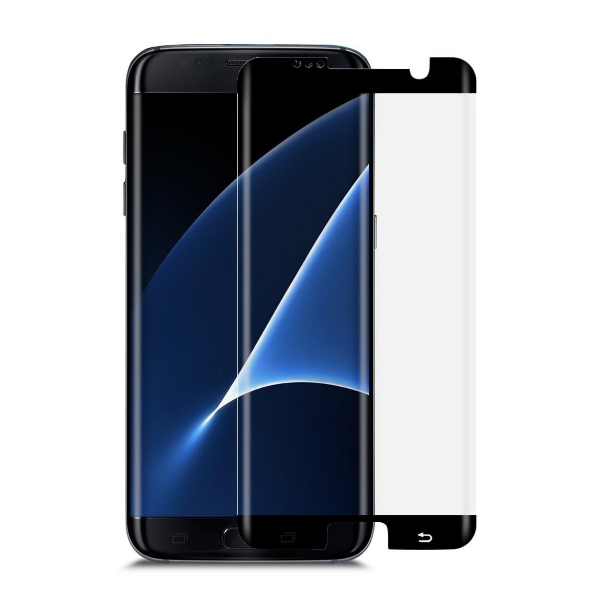 3D Ochranné sklo CASE FRIENDLY na celý displej pro Galaxy S7 Edge - Černé