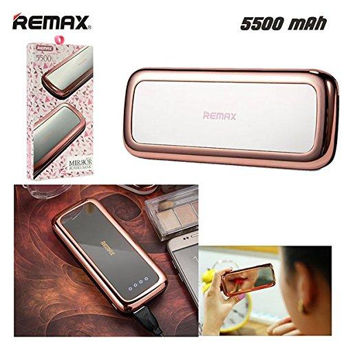 Luxusní Externí baterie / Power Banka Remax MIRROR - 5 500 mAh, Rose Gold