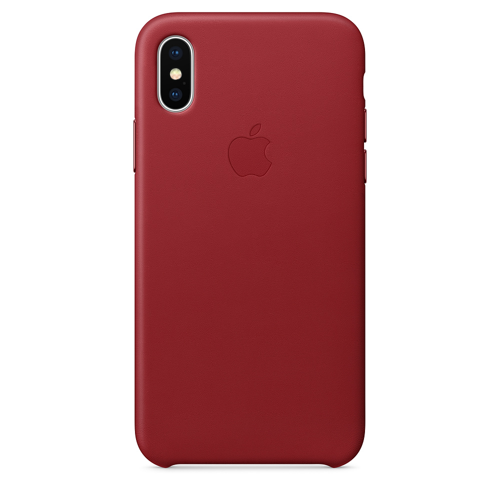 Pouzdro Apple Leather Case iPhone X červené
