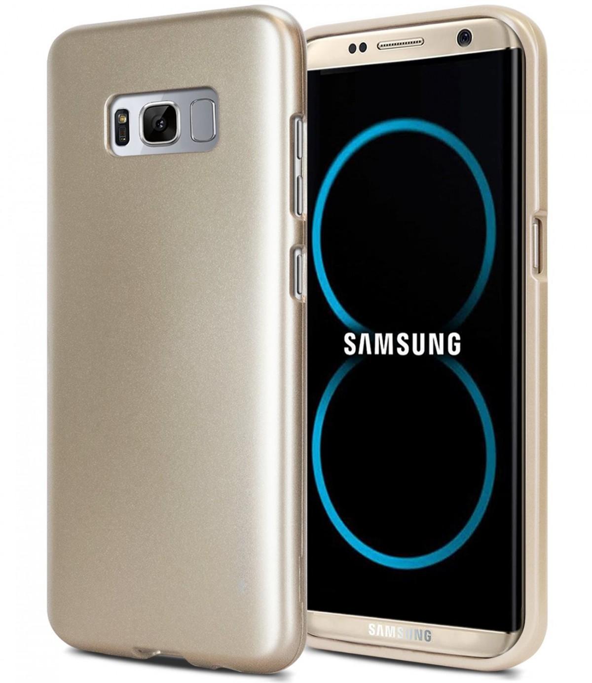 Pouzdro Mercury i-Jelly Metal Samsung S8 Plus silikon zlaté