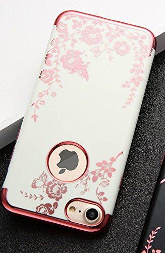 Obal / kryt Flower Garden pro iPhone 6s / 6 - Bílý