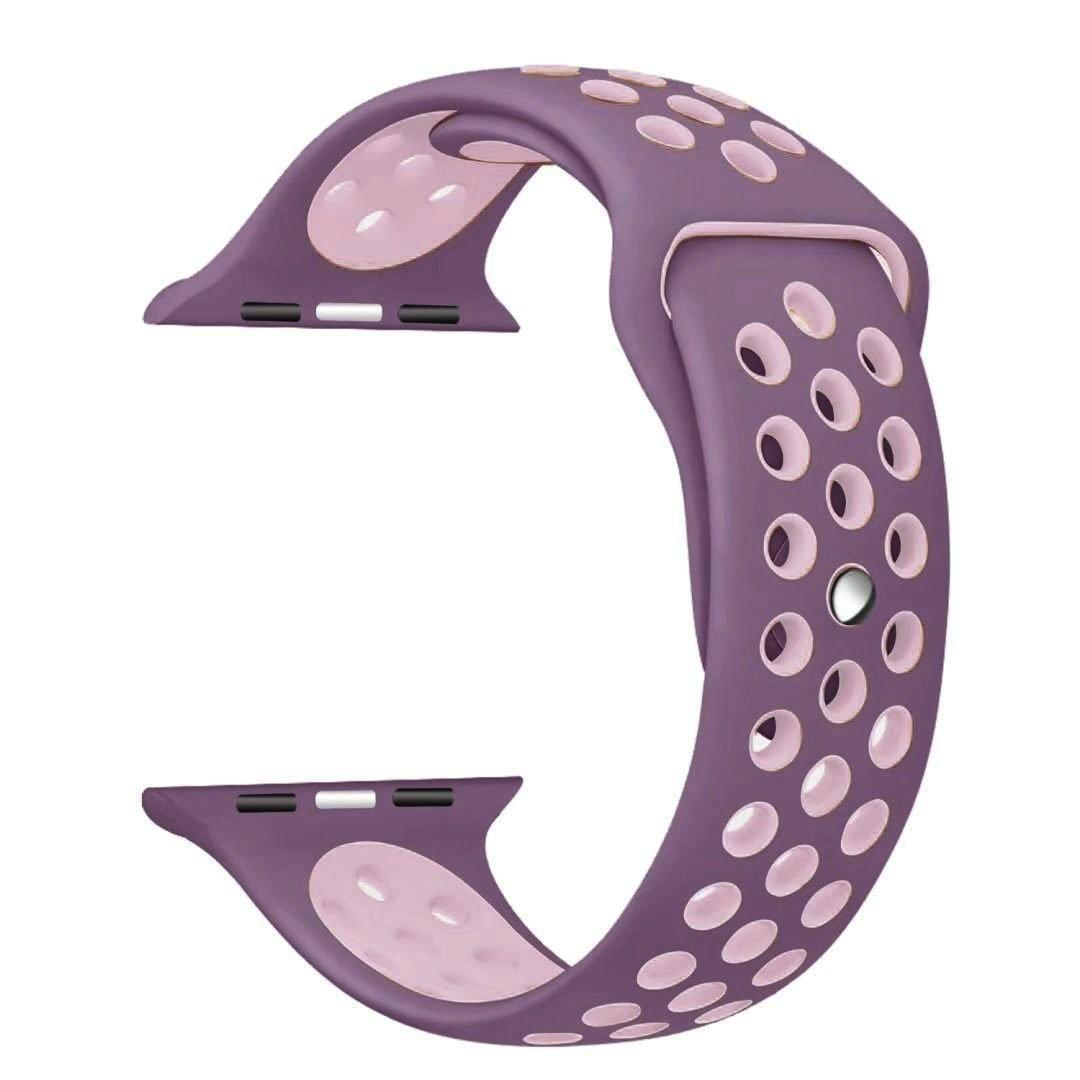 Řemínek SPORT pro Apple Watch Series 3/2/1 38mm - Světle fialový/Růžový