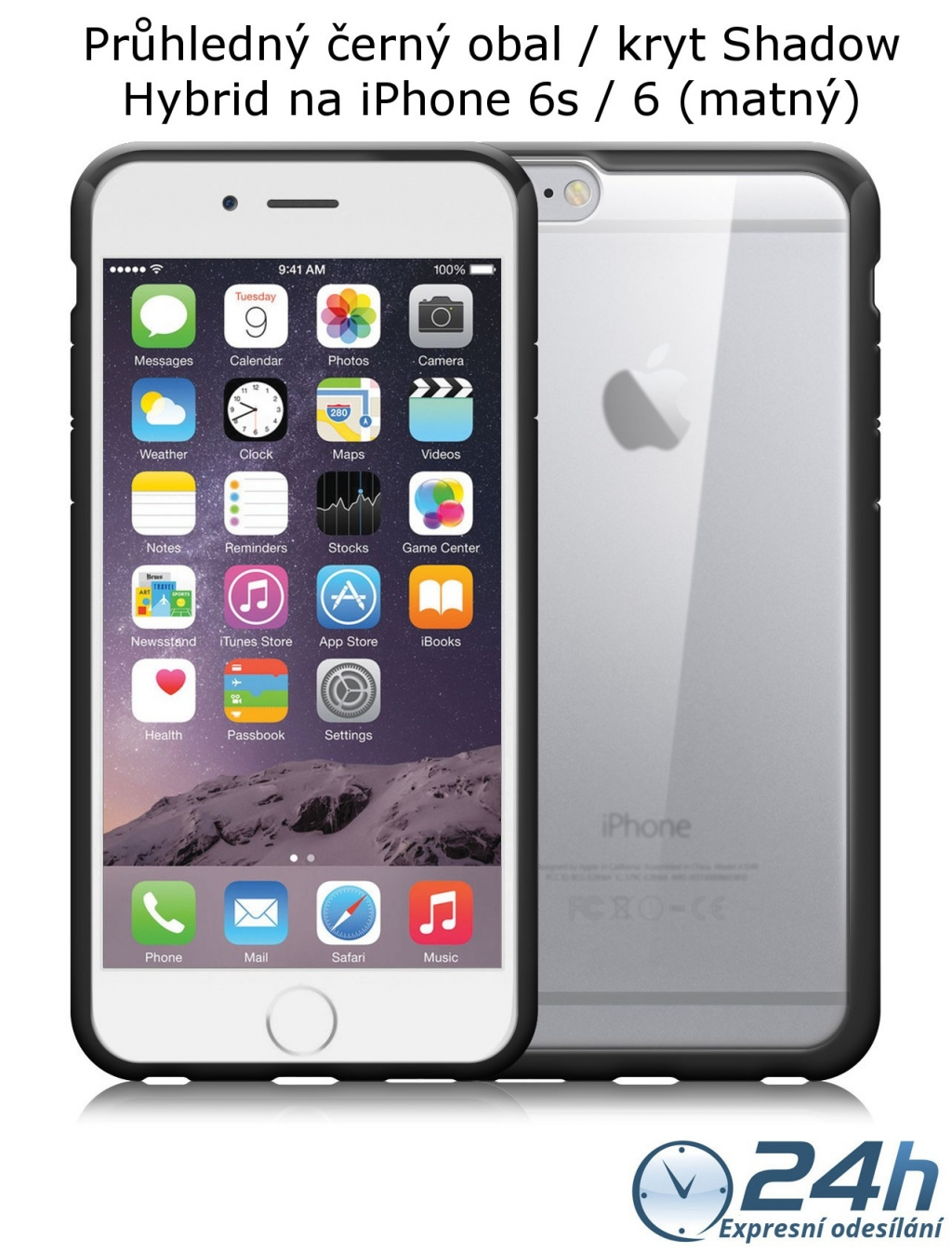 Černý matný obal / kryt na iPhone 6s / 6