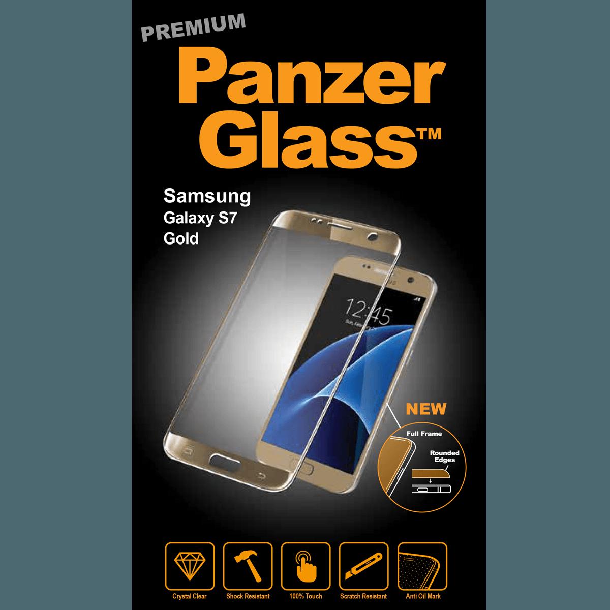 Ochranné sklo PanzerGlass PREMIUM Full Frame na Samsung Galaxy S7 - ZLATÉ