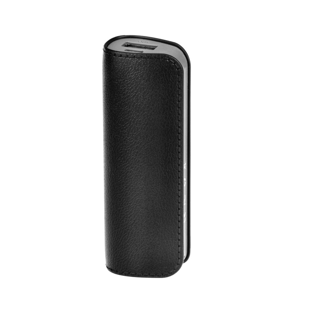 Power Banka / Externí baterie LEATHER DL511 2600mAh + Micro USB kabel - Černá
