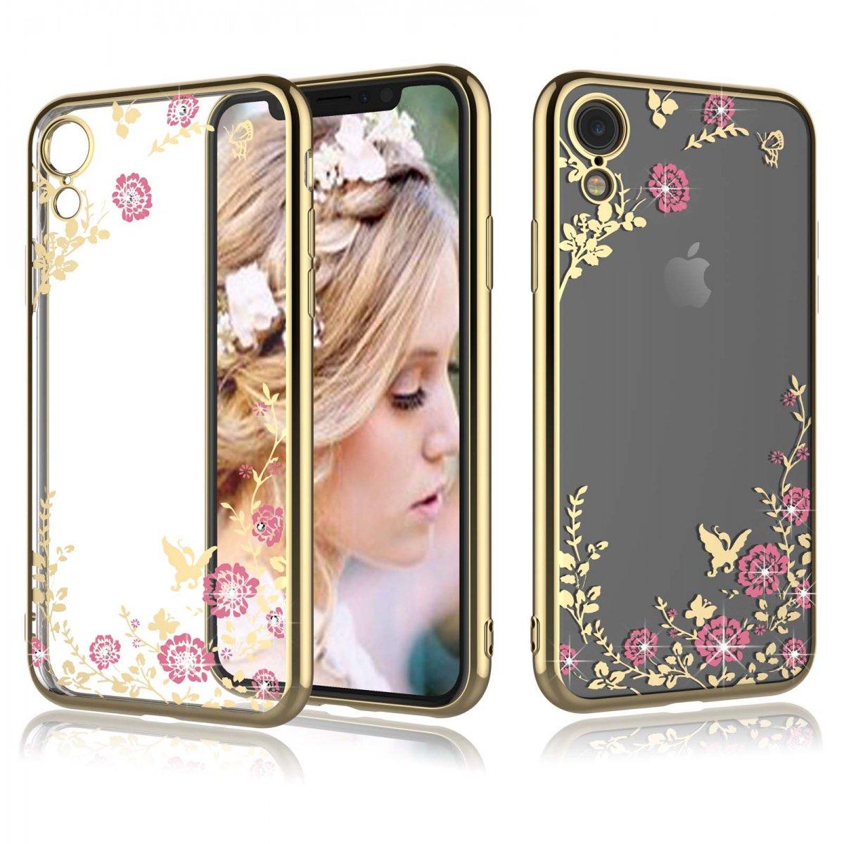 Pouzdro Forcell Diamond Case iPhone XR - Zlatá