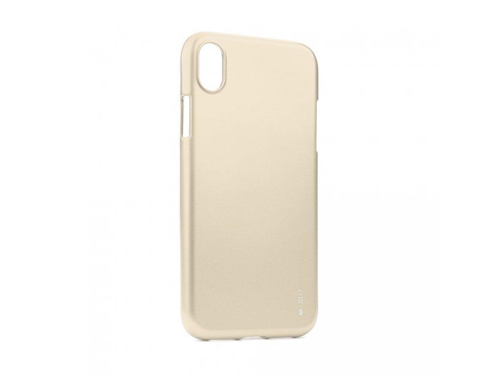 Pouzdro Goospery i-Jelly Metal iPhone XR - Zlatý
