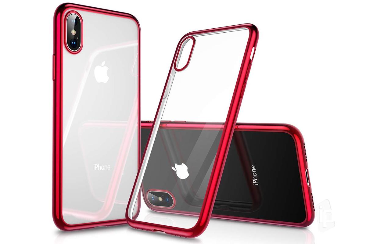 Elegantní obal / kryt RING na Apple iPhone X - Červený
