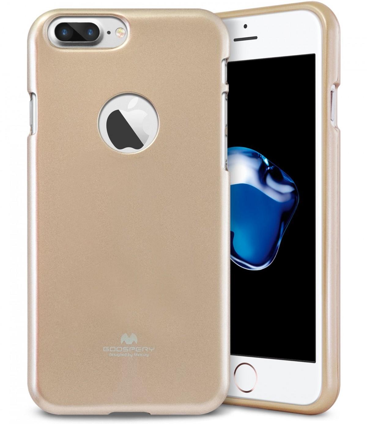 Tenké silikonové obaly / kryty Goospery Mercury pro Apple iPhone 7 Plus - iJelly Metal - Zlatý / Gold