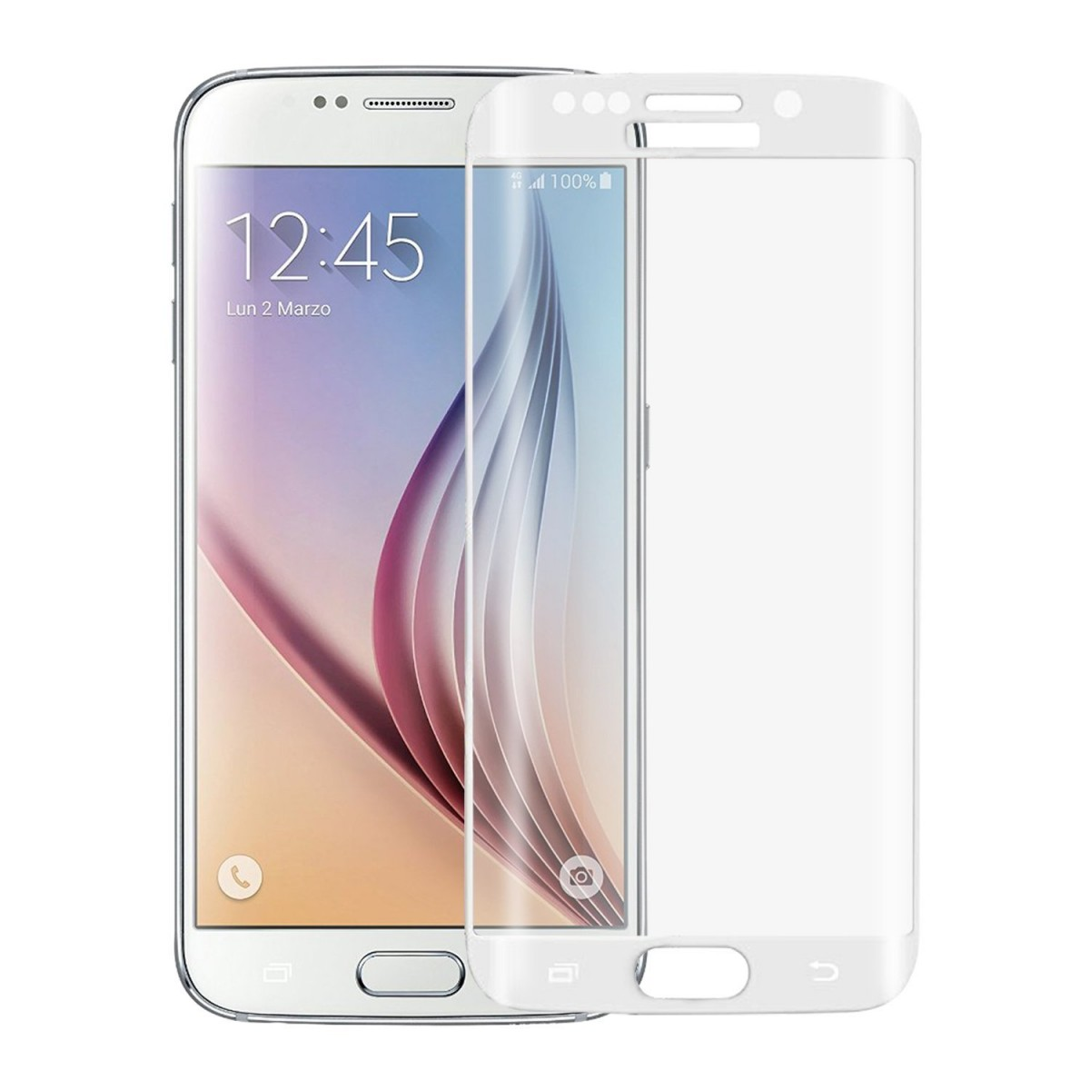 ScreenShield Tempered Glass pro Samsung Galaxy S6 edge SM-G925F, zlatá displej SAM-TGGG925-D