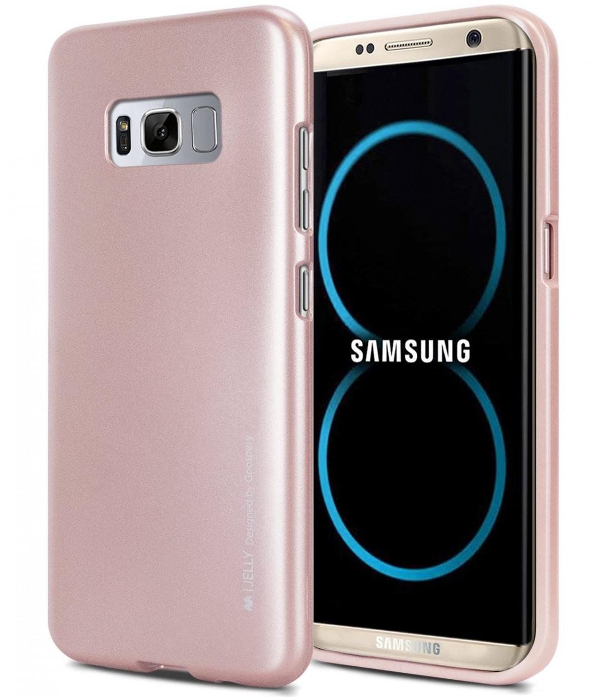Silikonové barevné kryty Goospery Mercury pro Samsung Galaxy S8+ - iJelly Metal - Rose Gold