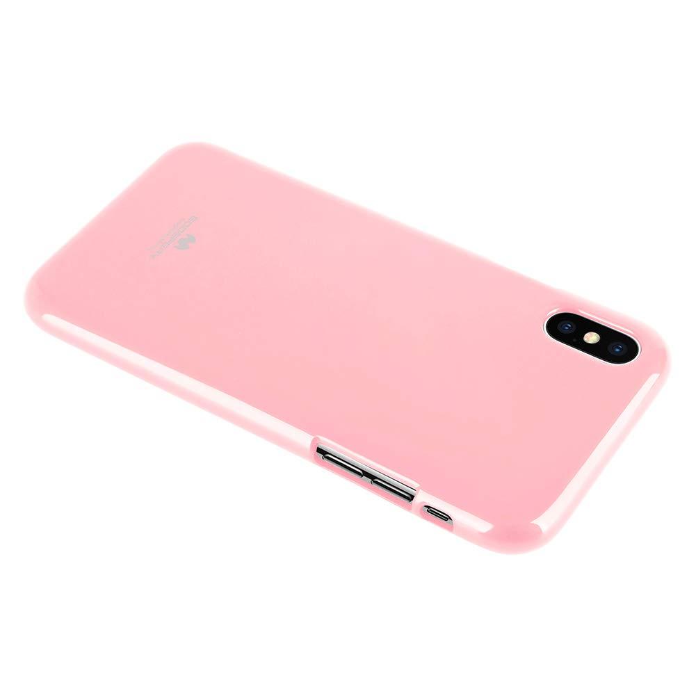 Pouzdro Mercury Pearl Jelly Case iPhone XS MAX - Světle růžový