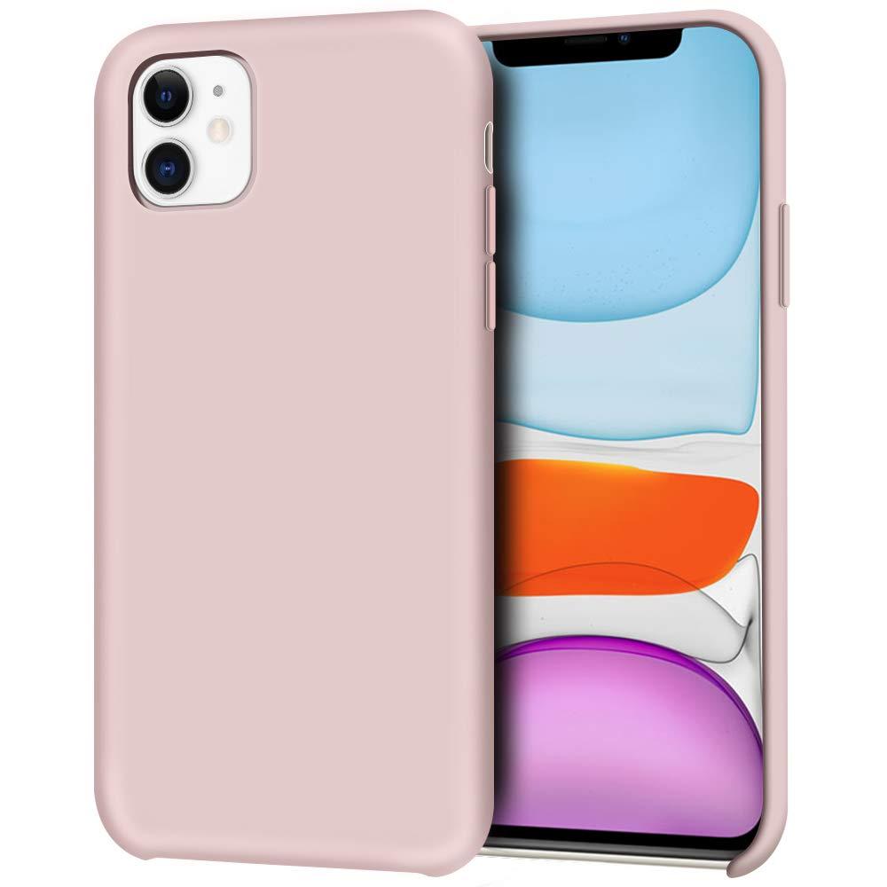 Pouzdro iMore Silicone Case iPhone 11 - Pískově růžový
