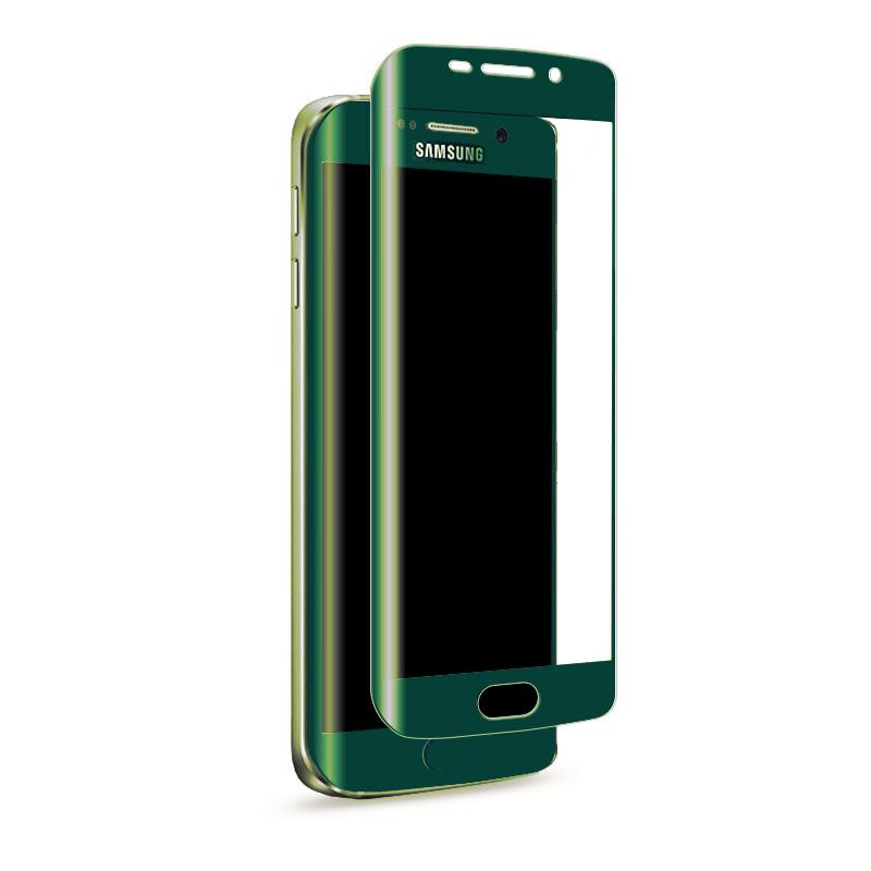 3D zakřivené tvrzené sklo 9H pro Samsung Galaxy S7 Edge - Zelené (green)
