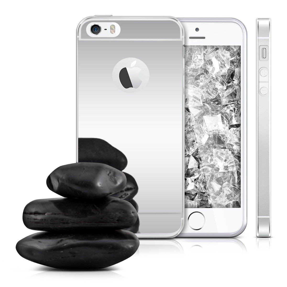 Zrcadlový kryt My Mirror pro iPhone SE / 5s / 5 - Stříbrný (silver)