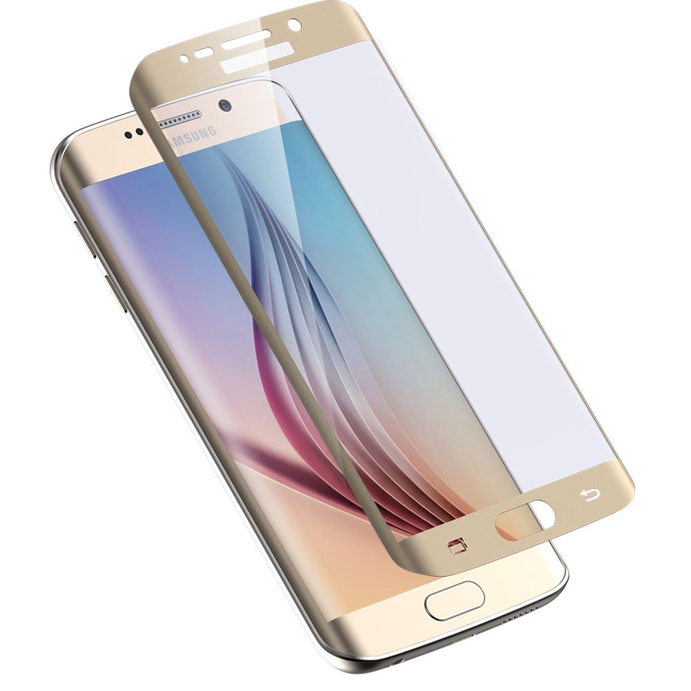 eSTUFF ochranné sklo TitanShield 3D pro Samsung Galaxy S6 Edge zlaté