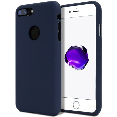 Obal / kryt Mercury Soft Feeling pro Apple iPhone 8 Plus / 7 Plus - Půlnočně modrý