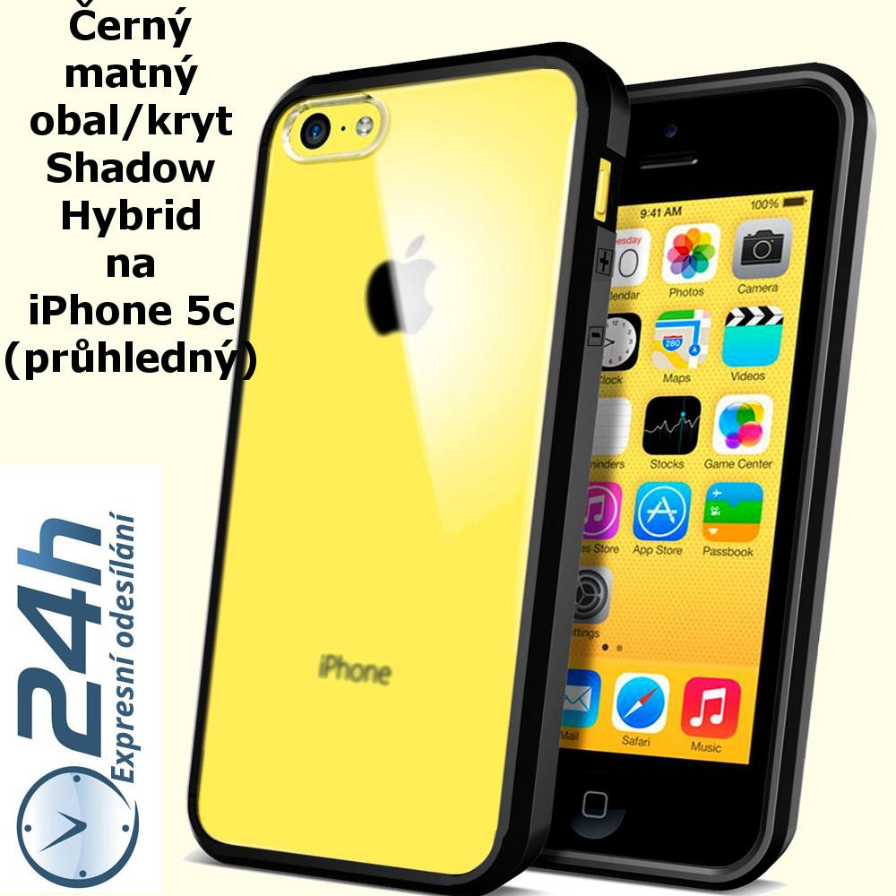 Černý matný obal / kryt na iPhone 5c