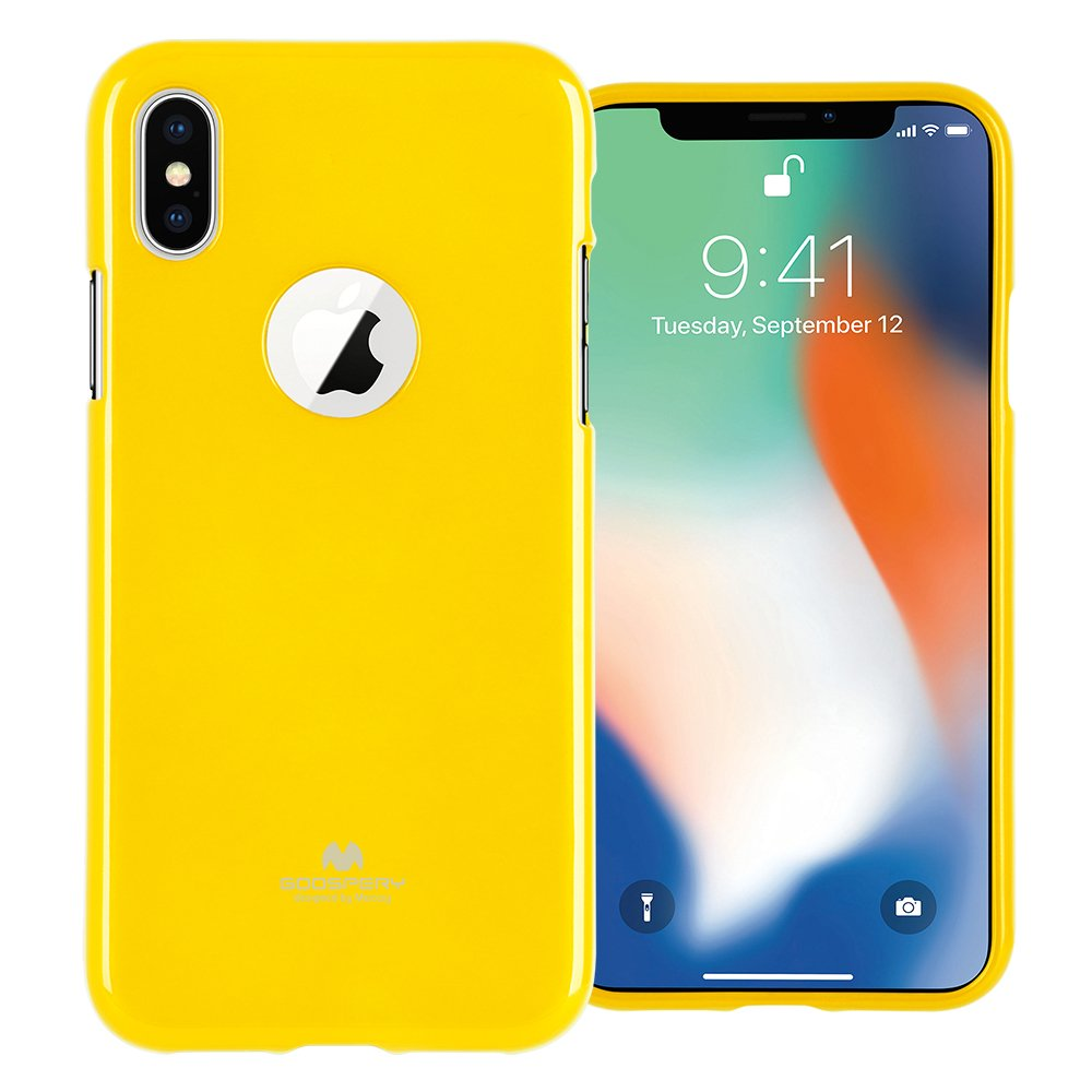 Pouzdro Goospery Mercury Jelly na Apple iPhone Xs/X - Žlutý