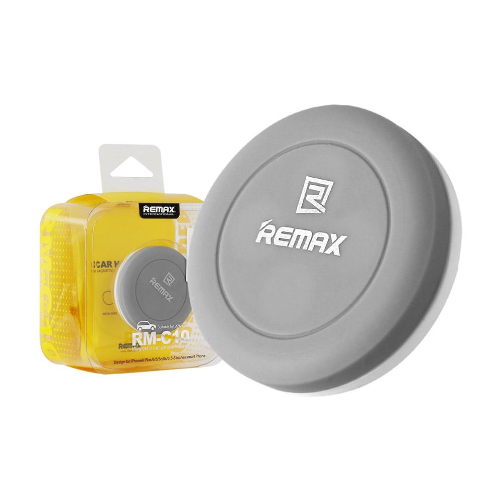 Magnetický držák do auta REMAX RM-C10 (univerzální, do ventilace) - Šedý