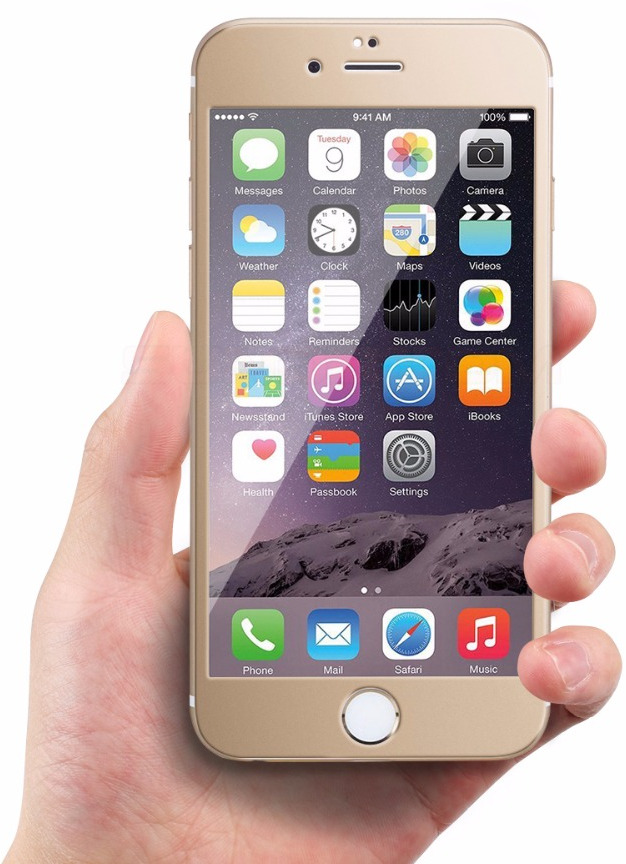 3D Tvrzené sklo Titanium pro iPhone 6s/6 Plus - Zlaté