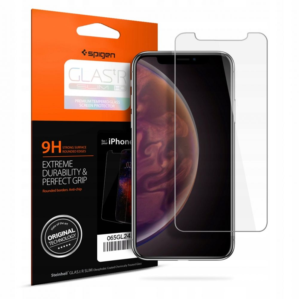 Tvrzené sklo Spigen GLAS.tR SLIM HD iPhone 11/XR 064GL24527