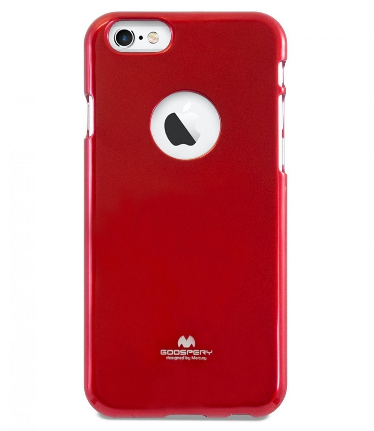 Pouzdro Mercury Jelly Case iPhone 6 / iPhone 6s silikon červené