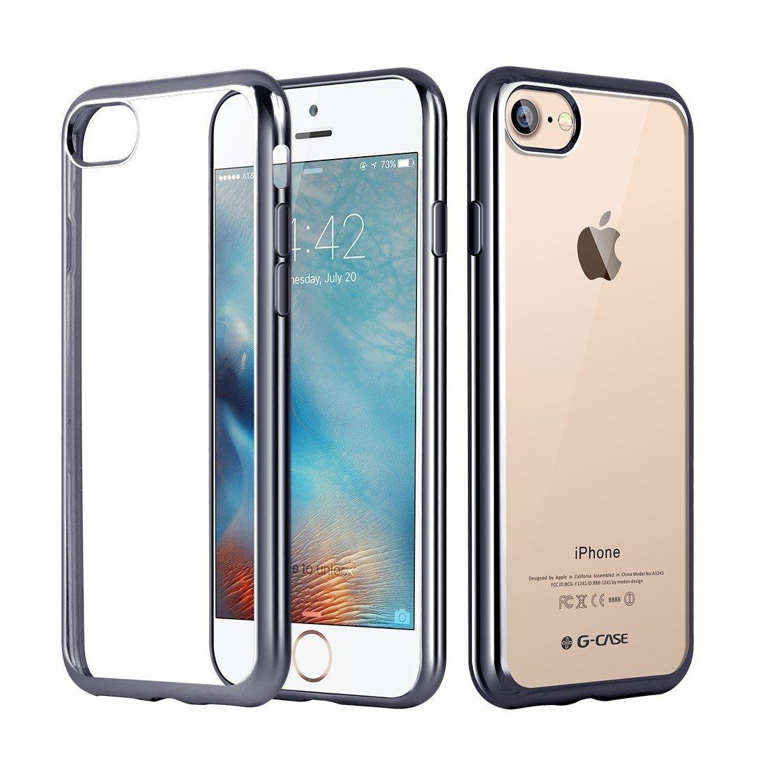 Elegantní obal / kryt RING pro Apple iPhone 7 - Šedý / Gray