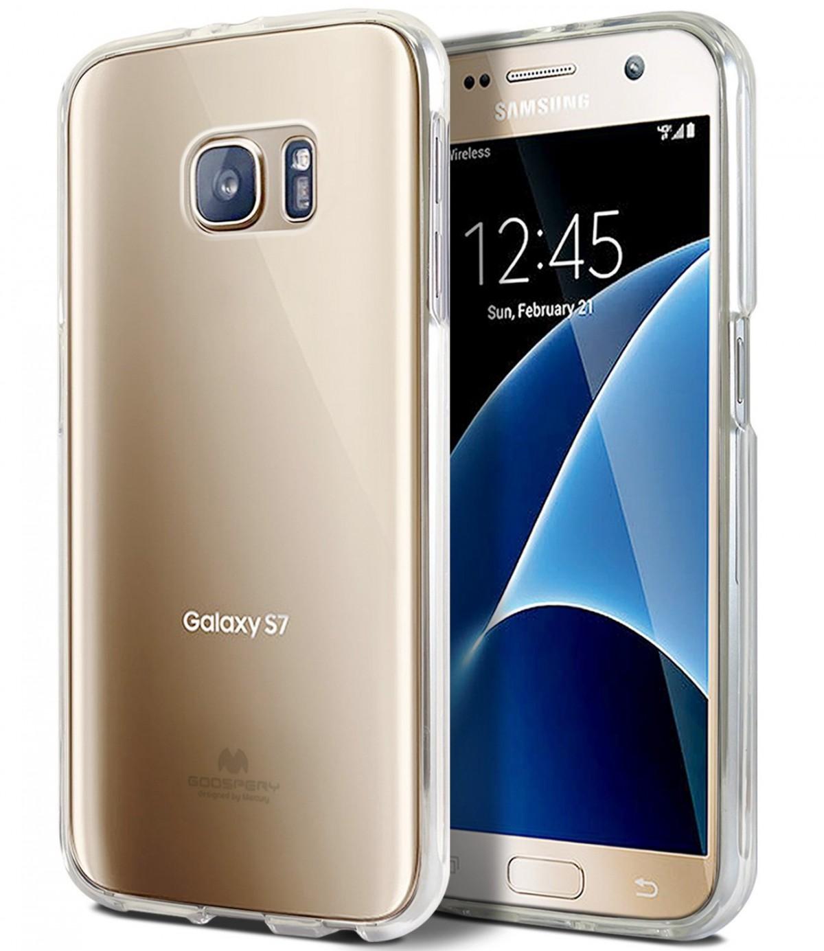 Silikonový obal / kryt Goospery Mercury pro Samsung Galaxy S7, čirý