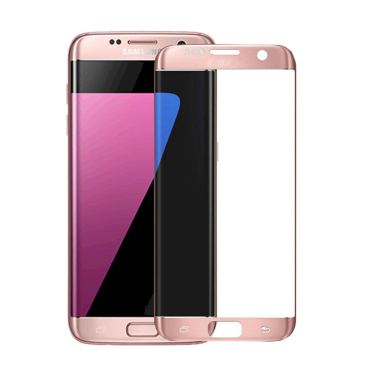 3D zakřivené tvrzené sklo 9H pro Samsung Galaxy S7 Edge - Růžové (rose)