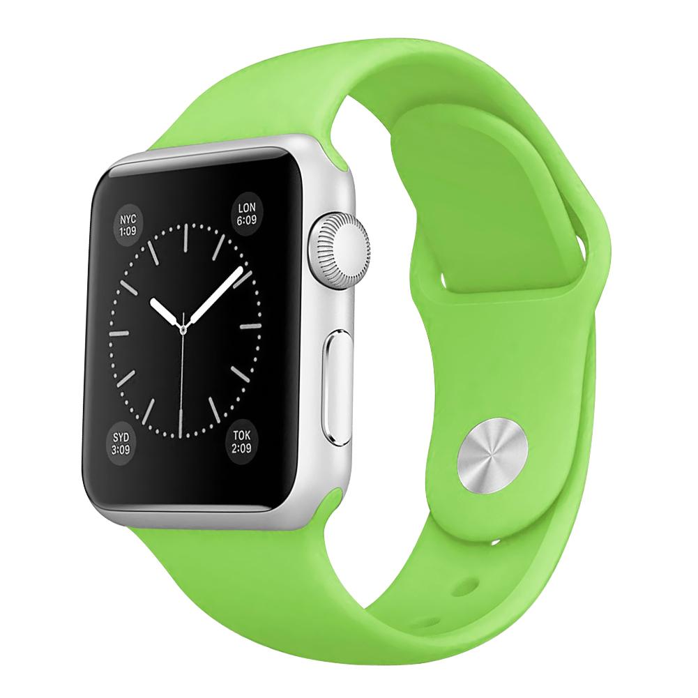 Řemínek SmoothBand pro Apple Watch Series 3/2/1 42mm - Limetkově zelený