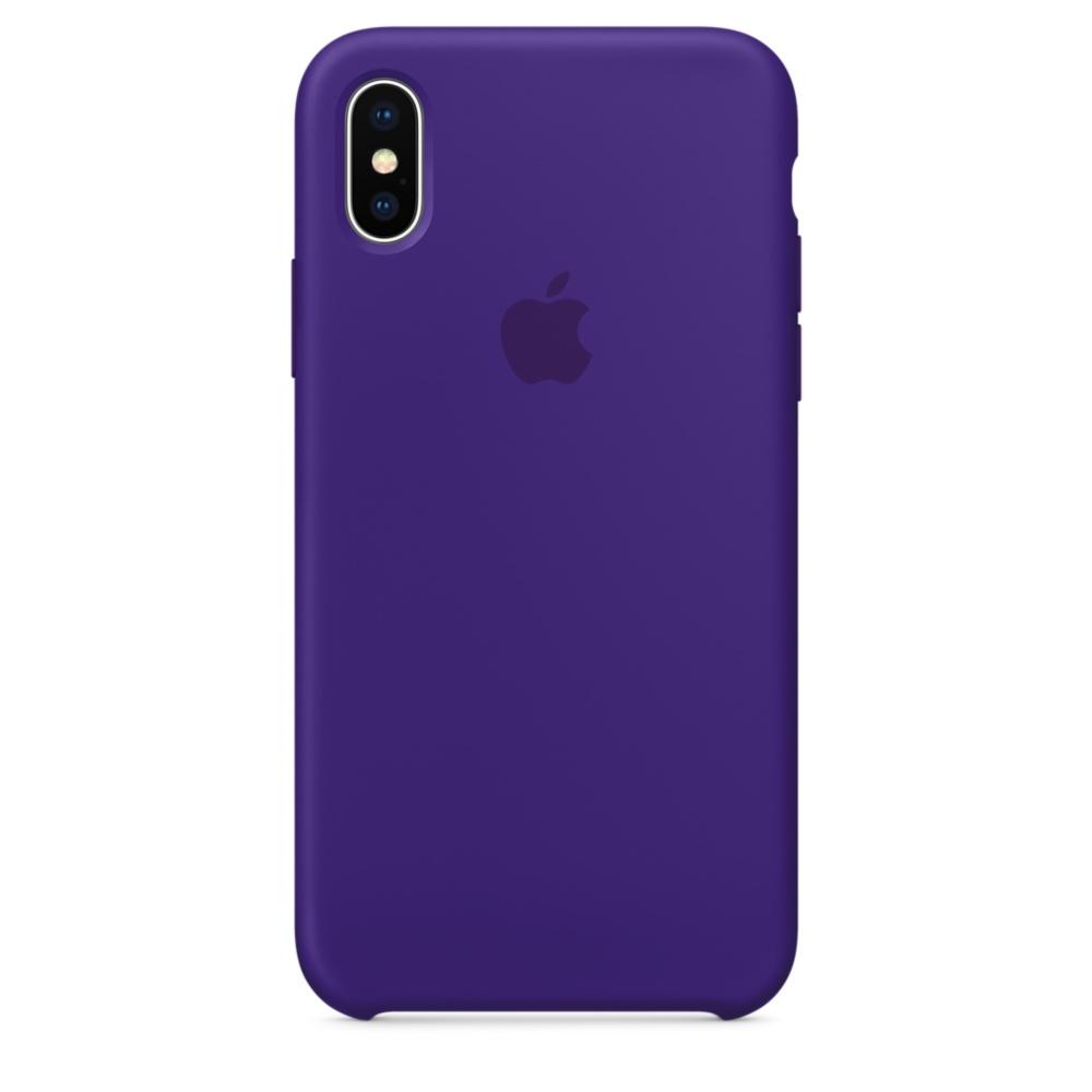 Pouzdro Apple Silicone Case iPhone X fialové