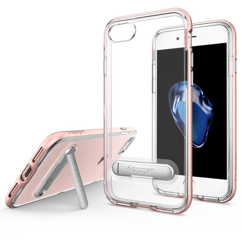 Pouzdro SPIGEN Crystal Hybrid pro Apple iPhone 8 / iPhone 7 - Rose Gold