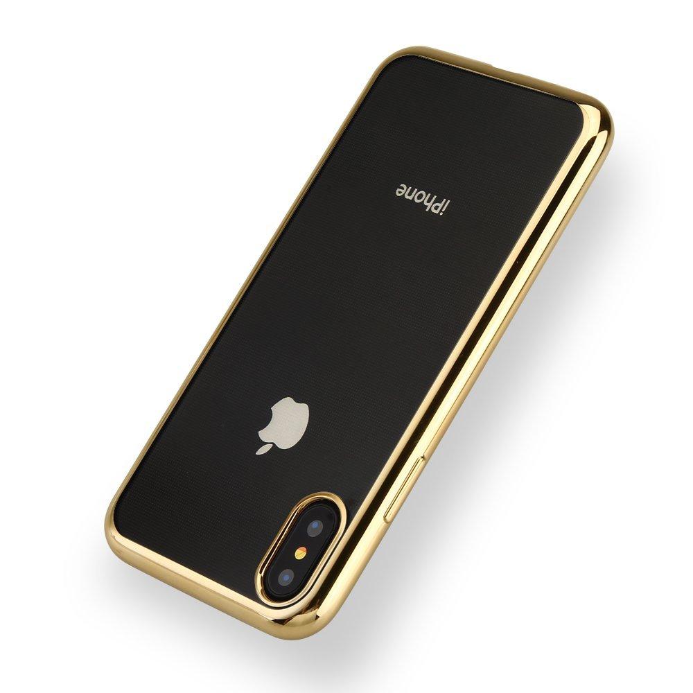 Pouzdro Telekryty Metal Ring iPhone X zlaté