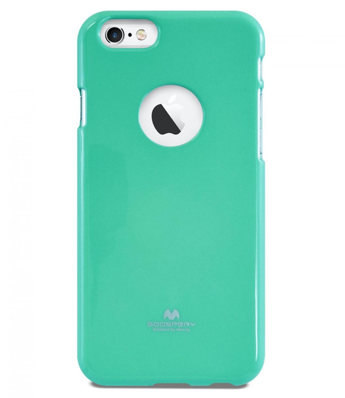 Tenké silikonové obaly / kryty Goospery Mercury pro Apple iPhone 6s/6 - Světle zelený / Mint