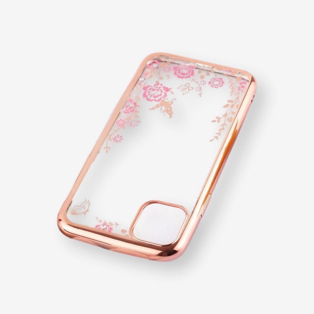 Pouzdro Forcell Diamond Case iPhone 11 Pro - Růžově zlatá