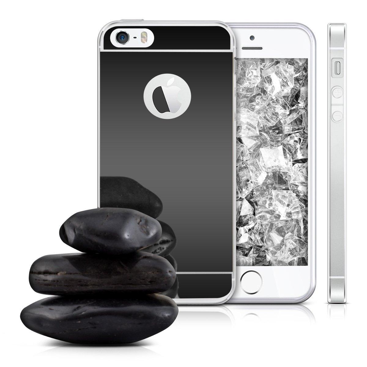 Zrcadlový kryt My Mirror pro iPhone SE / 5s / 5 - Černý (black)