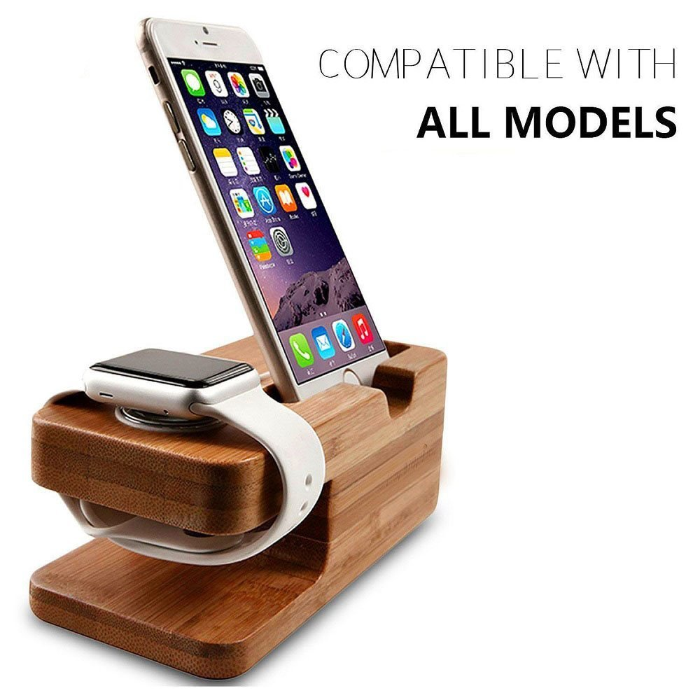 iMore WatchStand Station Bamboo BAM2V1