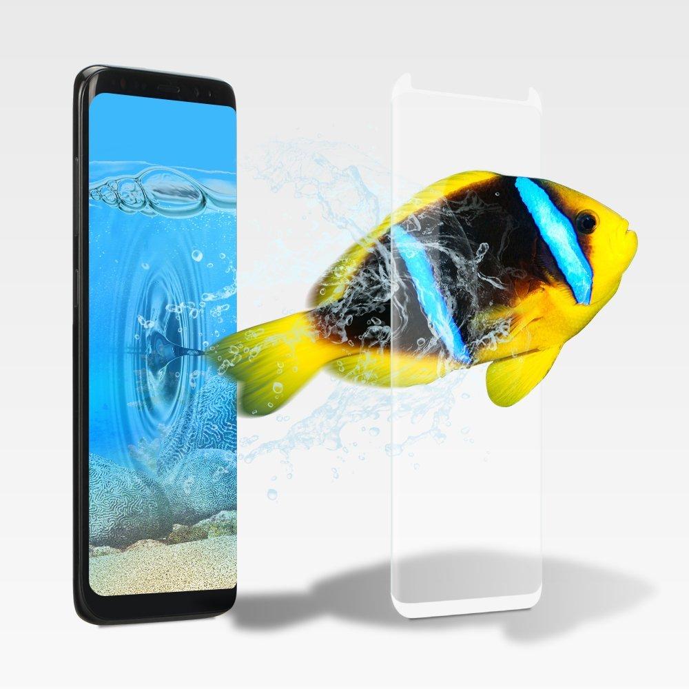 3D Ochranné sklo CASE FRIENDLY na celý displej pro Samsung Galaxy S8 - Bílé / White