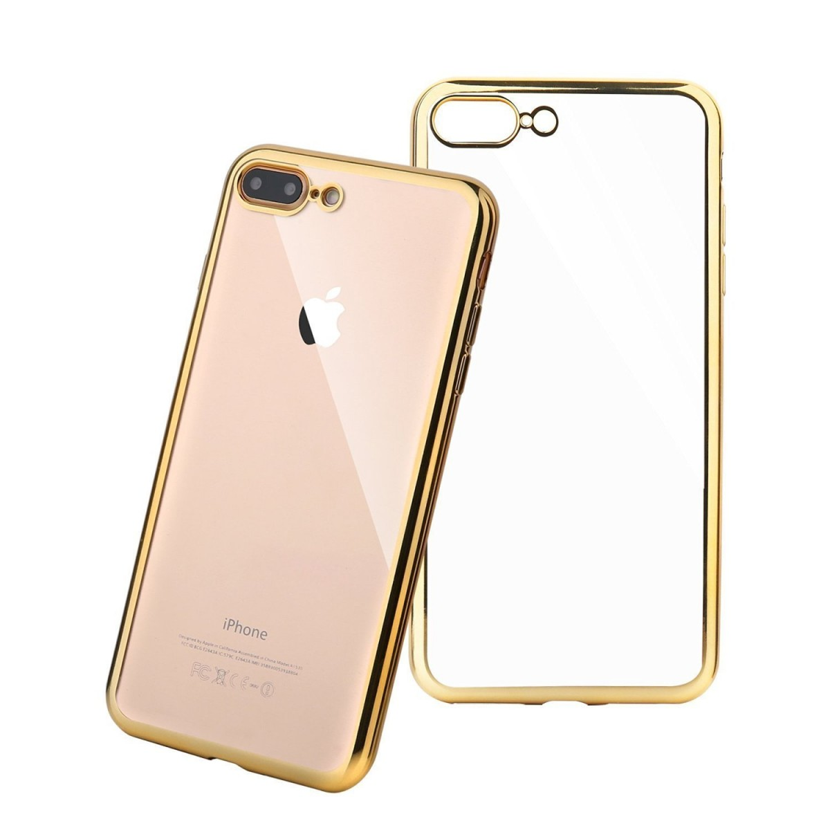 Elegantní obal / kryt RING pro iPhone 7 Plus - Zlatý (gold)