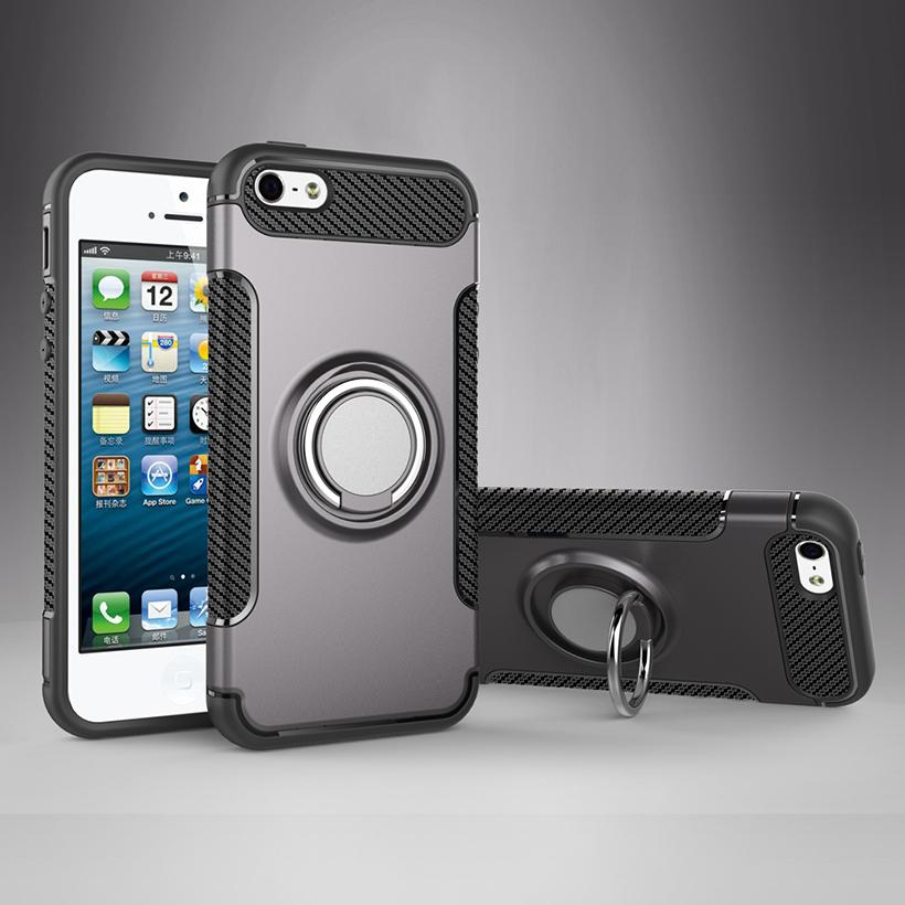 Pouzdro iMore Magneto na iPhone SE/5S/5 - Uhlově šedé