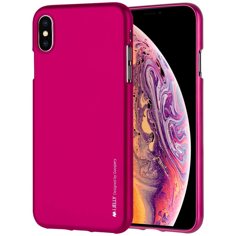 Pouzdro Goospery Mercury iJelly Metal na iPhone Xs/X - Růžový