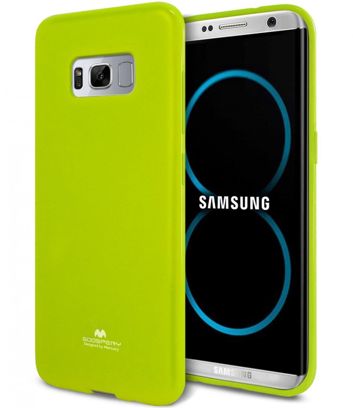 Silikonový barevný obal / kryt Goospery Mercury pro Samsung Galaxy S8 - Jelly Case - Limetkový